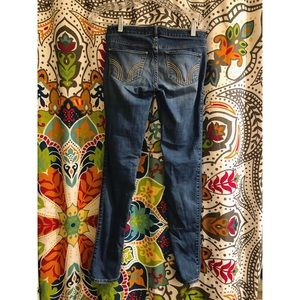 HOLLISTER yellow pocket skinny jeans low rise